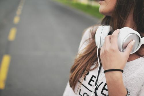 walk and listen to music for self care
