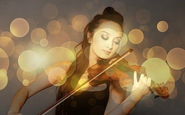woman violin breathwork